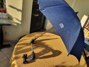 Rollator Schirm mit Halterung