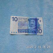 Niederlande 10 Gulden Schein