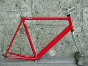 Feuerroter Rennrad-Alurahmen RH 64cm für
