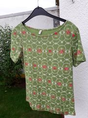BLUTSGESCHWISTER Shirt Gr M grün-