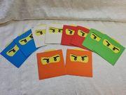 Lego Ninjago Einladungskarten für Kindergeburtstag