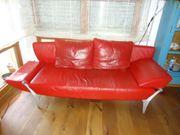 Rotes Rolf-Benz Sofa
