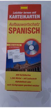 Karteikarten Aufbauwortschatz Spanisch