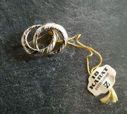 Brosche 18 Karat goldplatiert bicolor