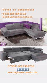 Sofa Couch Wohnlandschaft L Form