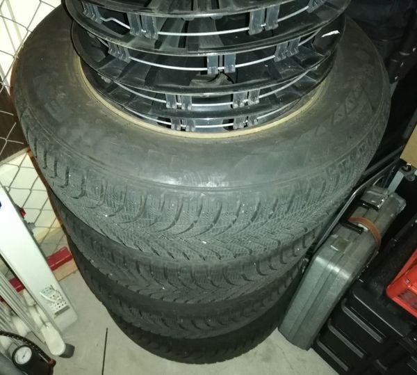 Winterreifen auf Stahlfelge für Opel