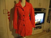 neu trenchcoat mantel orange grösse