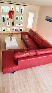 Hochwertiges Designer-Sofa von Natuzzi rotes