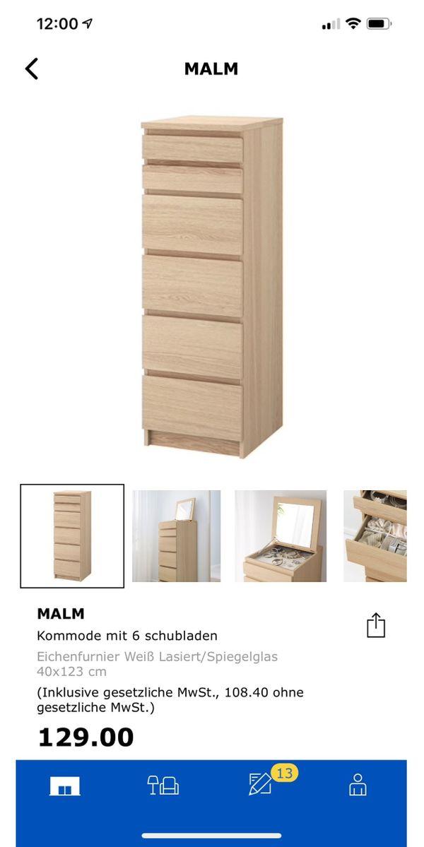 malm Kommode - Mannheim - Verkaufe meine Malm Kommode von IkeaIch habe sie vor einem jahr gekauft sie ist noch in einem sehr guten Zustand - Mannheim