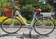 "City E-Bike 28"", neuwertig, LLOBO White Motion, Elektrofahrrad gebraucht kaufen  Feucht"
