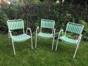 Vintage Gartenstuhl Trio