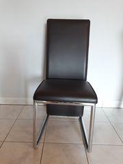 6x Stuhl Kunstleder Farbe schokobraun