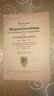 Auszug Bergpolizeiverordnung 1934