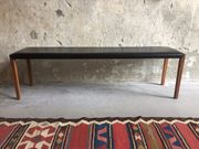Sitzbank Leder Nußholz