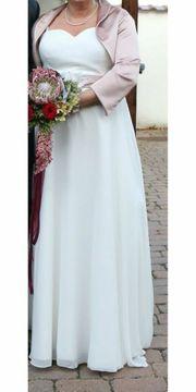Elegantes schönes Brautkleid Farbe champagner