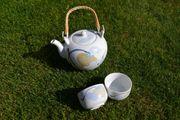 Verkaufe Teeservice 7-teilig - sechs Tassen