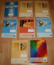 NEU - Schul-Hefte - 8 Stück - Set - DIN-A4