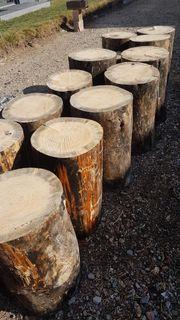 Hackklotz Baumstumpf Holz