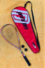 Squashschläger mit Tasche Squashbällen