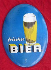 Werbeschild Reklameschild - FRISCHES BIER - original
