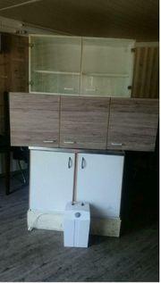 Hängeschränken Spühltisch mit Mischbatterie Wasserboiler