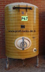 P67 gebrauchter 2100L Polyestertank GFK-Tank
