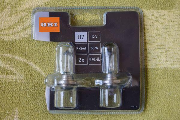 2 x Hallogen-Lampen für PKW-Scheinwerfer