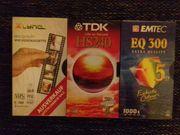 5 Videocassetten originalverpackt