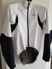 Gore-Tex Rennrad-Regenjacke weiß schwarz