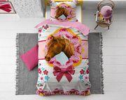 Cute Horse Pink 135x200