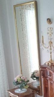 Kristall - Spiegel mit Goldrand