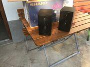Verkaufe Sharp Lautsprecher 2 Stück