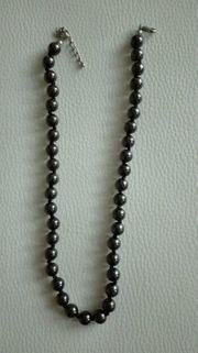 Perlenkette Modeschmuck Elegant Schwarz gebraucht