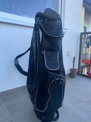 Golfbag schwarz mit Tragegurt