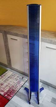 CD-Ständer in Alu Kunststoff blau