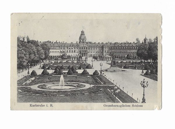 Feldpostkarte Karlsruhe 1916