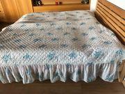 Tagesdecke Überwurf für Doppelbett - weiß