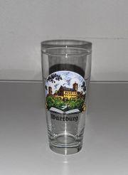 Wartburg Eisenach Ansicht Glas Souvenir
