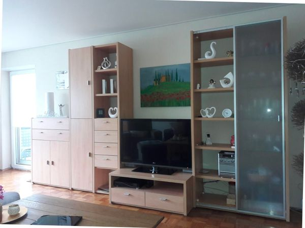 Moderne Wohnwand In Buche In Worth Wohnzimmerschranke Anbauwande