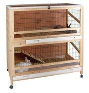 Kleintierkäfig Kaninchenkäfig Indoor Deluxe von