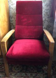 Samt Sessel rot