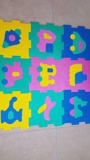 Moosgummiplatten Kinderpuzzle