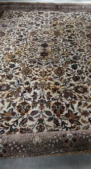 Inder Keschan Beige Schurwolle Teppich