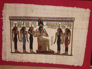 Bild echt Papyrus auf Sperrholz