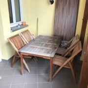 Teak Holztisch Garnitur mit 5