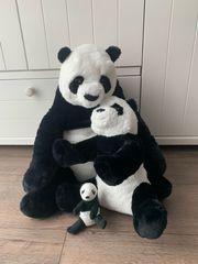 IKAE Panda Kuscheltiere Familie