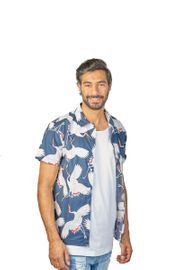 Herren Hawaii Kurzarmhemden 100 Baumwolle