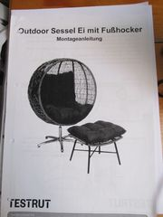 2x Outdoor Sessel Ei mit