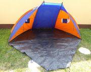 Strandmuschel Beachshelter orange blau 270