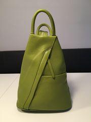 Tasche Rucksack Damen - Leder apfelgrün